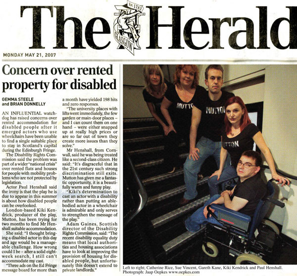concern over rented property for disabled